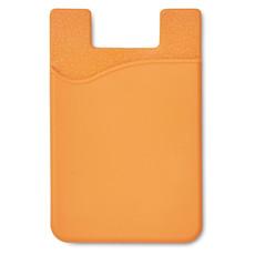 Porta carte di credito adesivo da smartphone colore arancio MO8736-10