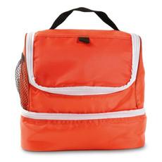 Borsa frigo con due comparti e tasca laterale colore arancio MO8705-10