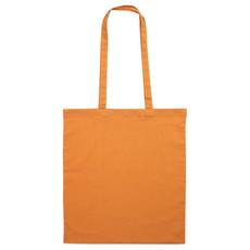 Borsa shopper manici lunghi in cotone colore arancio IT1347-10