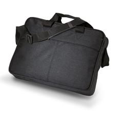 Portadocumenti con tracolla in poliestere colore nero IT2074-03