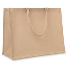 Shopper in juta con interno laminato trasparente colore beige MO8965-13