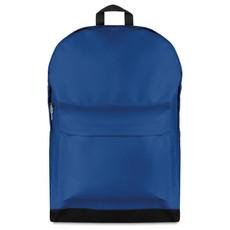 Zaino in poliestere con tasca esterna colore blu royal MO8829-37