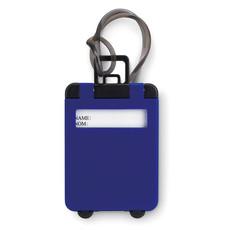 Etichetta bagaglio in plastica a forma di trolley colore blu royal MO8718-37