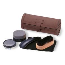 Set pulizia scarpe in confezione elegante colore marrone KC2231-01
