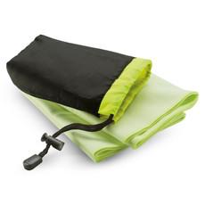 Asciugamano con custodia di nylon colore verde KC6333-09
