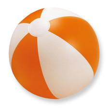 Pallone da spiaggia gonfiabile bicolore colore arancio IT1627-10