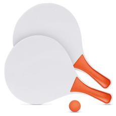 Racchettoni in legno e palla in gomma colore arancio IT1911-10