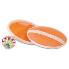 Set gioco da spiaggia con ventose e palla colore arancio IT3852-10