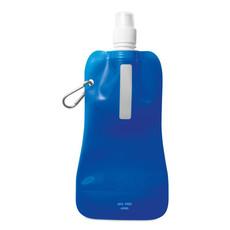 Borraccia pieghevole con moschettone in alluminio colore blu trasparente MO8294-23