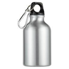 Mini Borraccia in alluminio con moschettone personalizzabile colore argento opaco MO8287-16