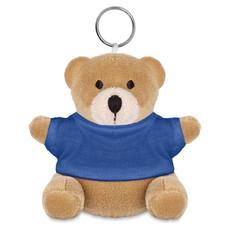 Orsetto peluche con portachiavi e T-Shirt colore blu MO8253-04