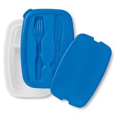 Porta pranzo con 2 comparti e porta posate colore blu MO8518-04
