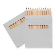 Set matite colorate in confezione colore marrone IT1047-01
