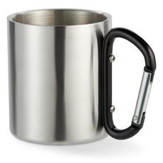 Tazza con moschettone in acciaio con doppio strato colore nero MO8313-03