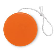 Yo-yo in plastica con superficie piatta colore arancio MO9009-10