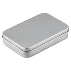 Carte da gioco francesi in confezione di latta colore argento opaco MO7529-16