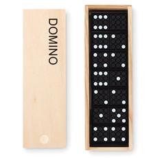 Domino in plastica in confezione di legno colore legno MO9188-40