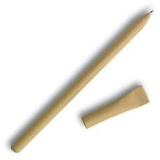 Penna a sfera blu in carta riciclata colore beige IT3892-13