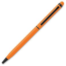 Penna blu touch screen con meccanismo twist colore arancio MO8892-10