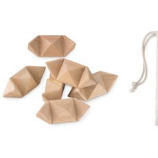 Puzzle in legno a forma di stella colore legno MO8931-40