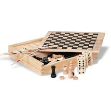 Scacchi dadi mikado e domino 4in1 colore legno KC2941-40