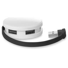 Cavo di ricarica lungo 14cm in box con 4 prese USB colore nero MO8671-03