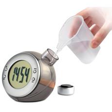 Orologio con display LCD da tavolo ad acqua colore argento opaco IT3828-16