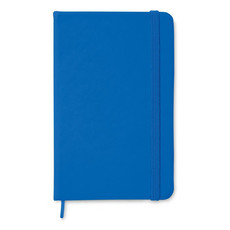 Quaderno 96 fogli neutri con cover soft in PU colore blu royal MO1800-37