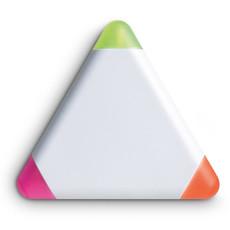 Set 3 evidenziatori in confezione trangolare in ABS colore bianco MO7818-06