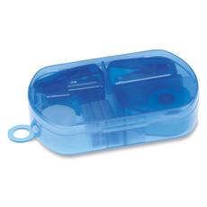 Set cancelleria con cucitrice bucafogli e nastro adesivo colore blu trasparente MO7623-23