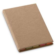 Set memo pad colorati in cartone riciclato colore beige MO7173-13