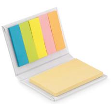 Set post it gialli e segna pagina colorati colore bianco MO9217-06
