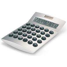 Calcolatrice 12 cifre da tavolo solare in metallo e plastica colore argento opaco AR1253-16