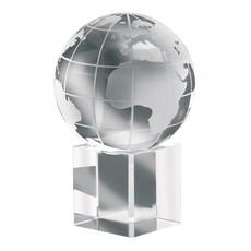 Fermacarte in vetro a forma di mondo in confezione colore trasparente IT1537-22
