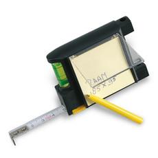 Flessometro da 200 cm con memo pad e penna a sfera colore nero KC2182-03