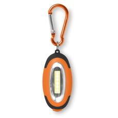 Mini luce COB con 3 effetti lampeggianti e moschettone colore arancio MO8996-10