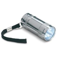 Mini torcia in alluminio con 6 LED colore argento opaco MO7680-16