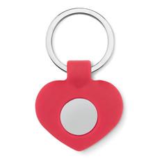 Portachiavi a forma di cuore con moneta colore rosso MO9208-05