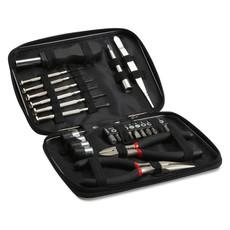 Set attrezzi in confezione di alluminio colore nero MO8241-03