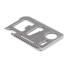 Set con 11 attrezzi in acciaio inox in confezione in pouch colore nero MO9057-03
