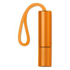 Torcia in alluminio con 1led e stringa colore arancio MO9349-10