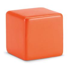 Antistress a forma di cubo in PU colore arancio MO7659-10