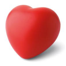 Antistress a forma di cuore in PU colore rosso IT3459-05
