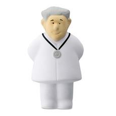 Antistress a forma di dottore in PU colore bianco MO7472-06