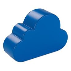 Antistress a forma di nuvola in PU adatto a stampa colore blu MO7983-04