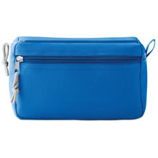 Beauty case con due tasche con chiusura a  zip colore blu royal MO9345-37