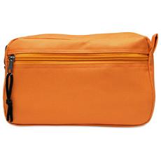 Beauty case con tasca frontale e zip colore arancio KC6822-10