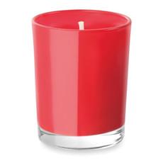 Candela profumata in confezione di vetro colore rosso MO9030-05