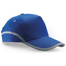 Cappello 5 segmenti in cotone con bordatura riflettente colore blu royal KC6403-37
