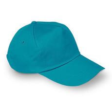 Cappello a 5 pannelli con fascetta regolabile colore turchese KC1447-12